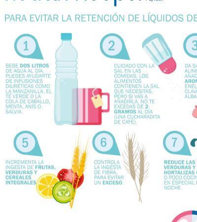 alimentos para evitar retencion de liquidos