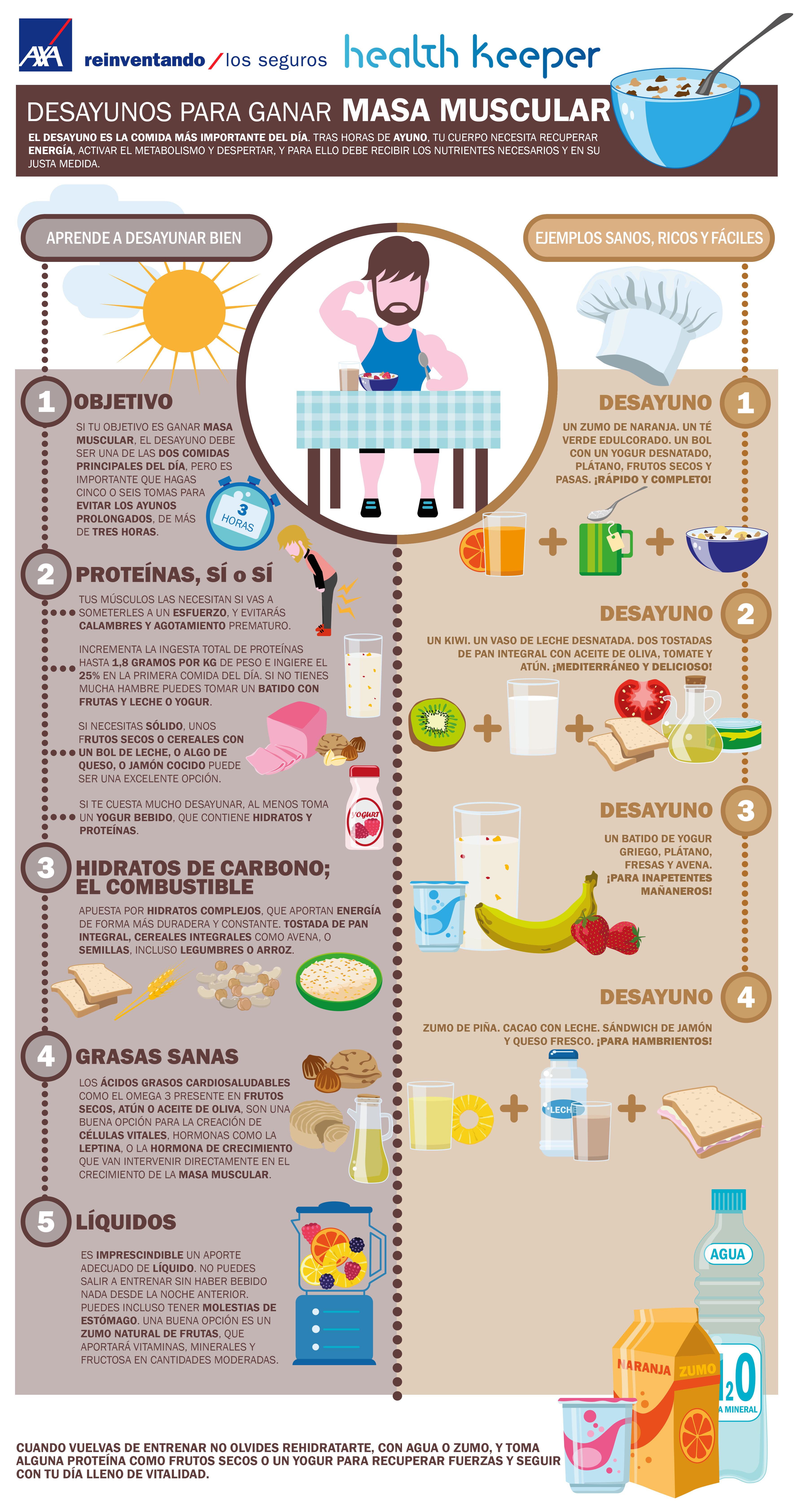 Una dieta saludable para subir de peso
