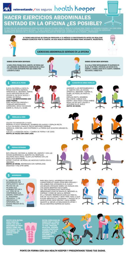 Hacer abdominales sentado en la oficina es posible axa for Sillas de oficina para problemas de espalda