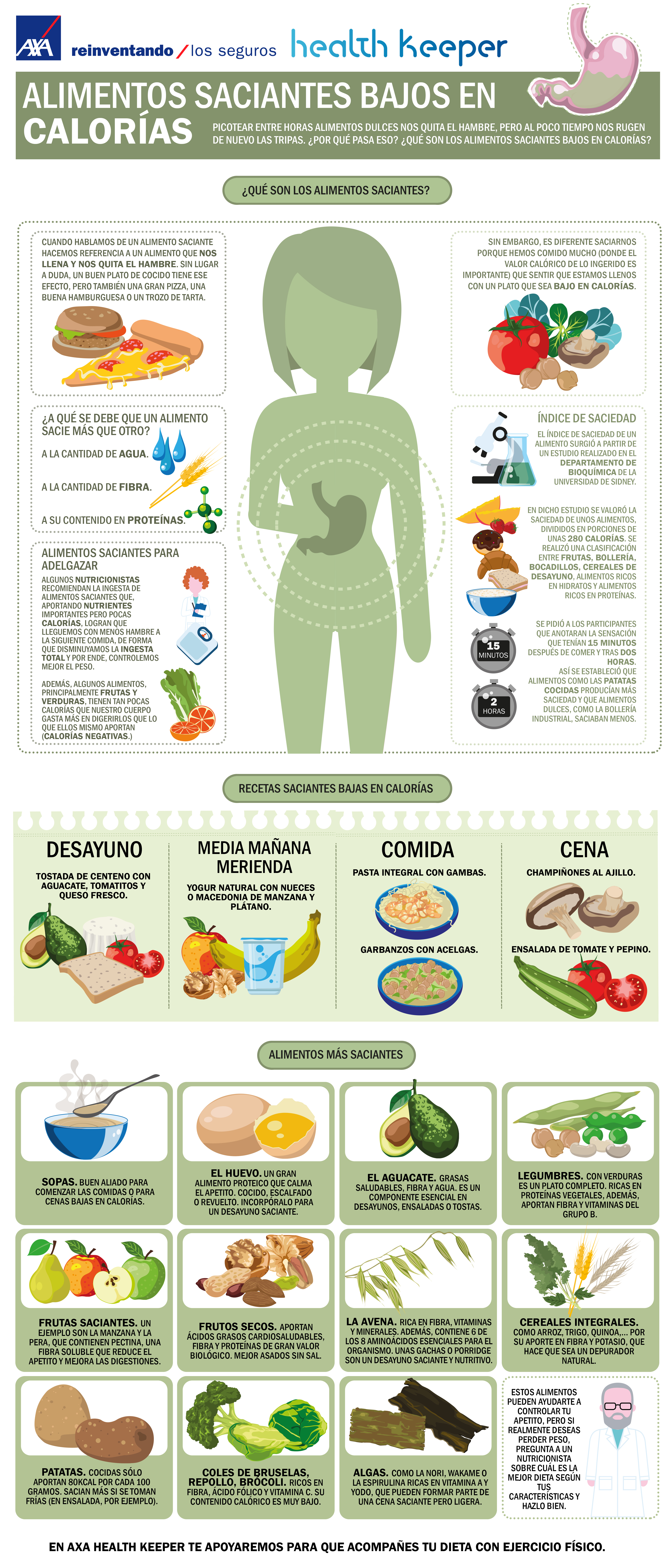 Alimentos bajas en calorias para adelgazar