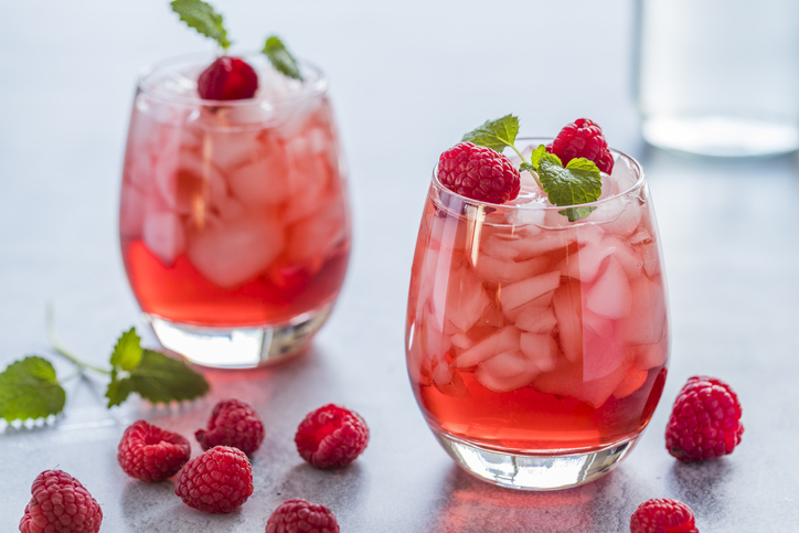 Top 10 cócteles de frutas sin alcohol. Frutos rojos