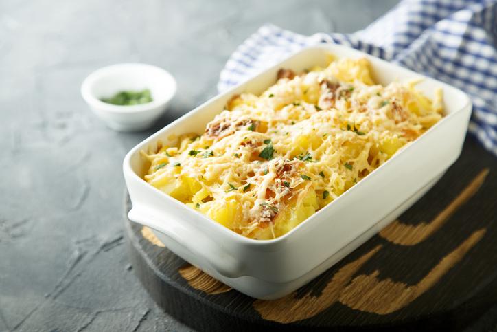 5 recetas con restos Patatas cocidas gratinadas