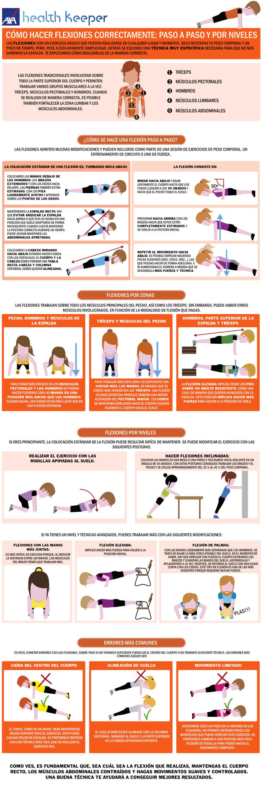 Aprende a hacer flexiones