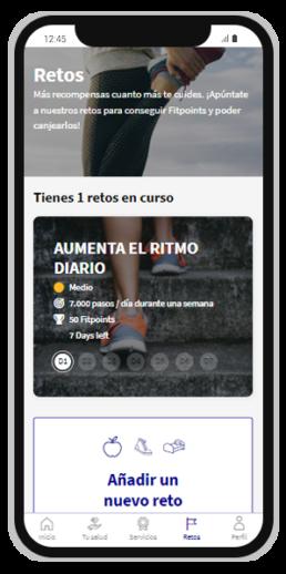 Gana Fitpoints al usar la app y al completar nuestros retos saludables